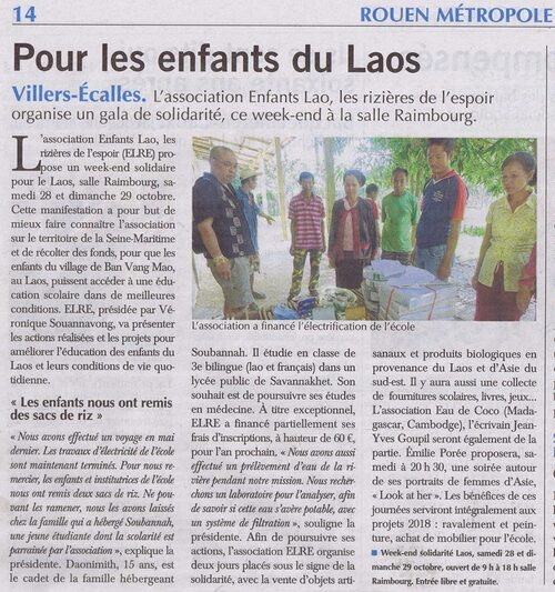 Article Paris Normandie - Week-end solidaire octobre 2017