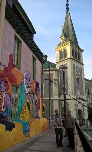 Valparaiso : l'église du cerro concepcion