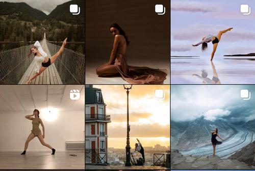 Danseuse étoile elle aussi, elle poste sur son profil de magnifiques photos de voyage où elle pose et détient en elle un talent inouï.