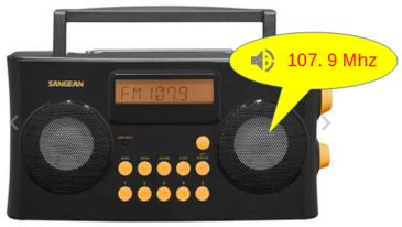 Radio-réveil parlant Sangean vocal 170