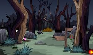 Jouer à Dark forest rabbits escape