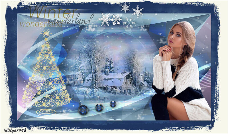 "Nouveau tuto "" Winter wonderland """
