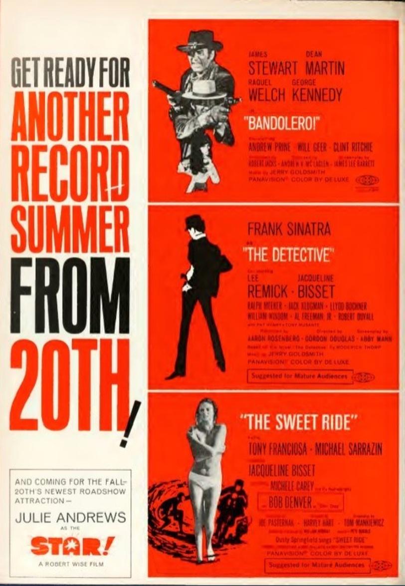 BOX OFFICE USA DU 23 AVRIL 1968 AU 29 AVRIL 1968
