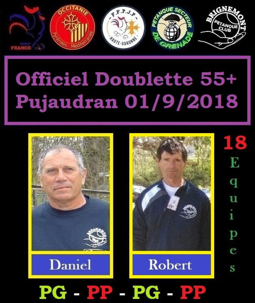 Officiel Doublette 55 ans+ à Pujaudran