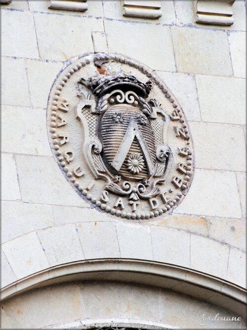 Photo de détails architecturaux du Château de Breze