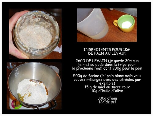 LE PAIN AU LEVAIN NATUREL