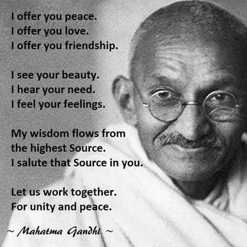 Prière du Mahatma Gandhi