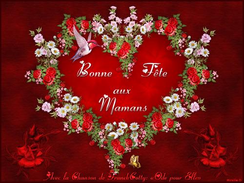 """Carte Musicale """"Coeur en Fleurs"""" pour la Fête des Mères"""