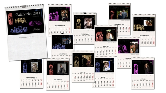 Calendrier 2011 Twilight