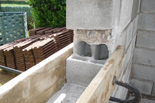 Les appuis de fen tre de l 39 abri de jardin construction d for Bordure de fenetre
