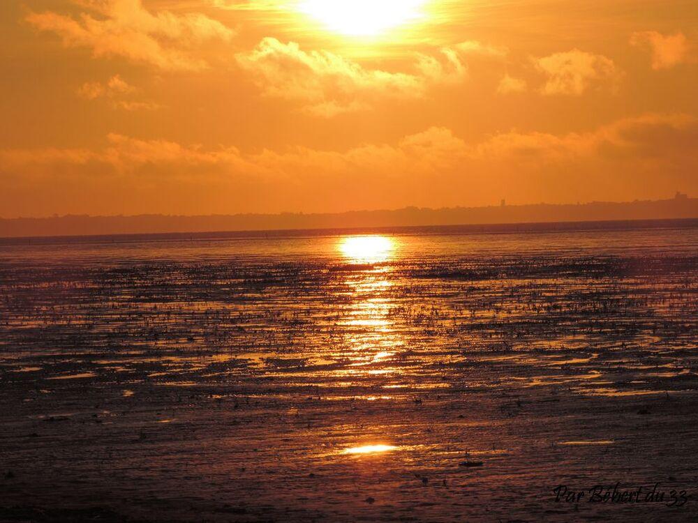 coucher de soleil à Cherrueix