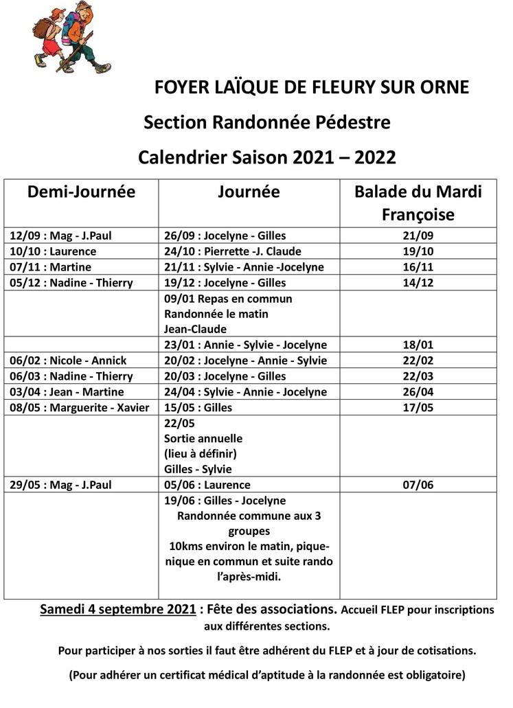 La section Randonnée du F.L.E.P. de Fleury-sur-Orne