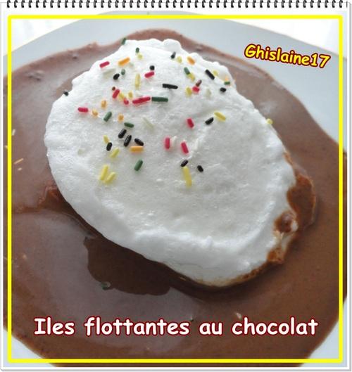 Iles flottantes au chocolat
