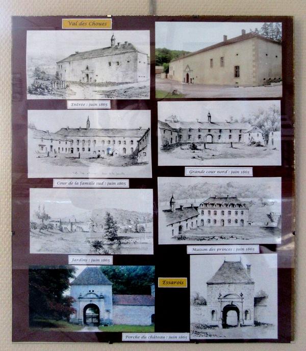 Les superbes dessins de la Haute vallée de L'Ource de Louis-Victor Petitot, ont enthousiasmé les visiteurs de l'exposition de Jenry Camus à Essarois