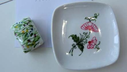 """stage """"initiation à la peinture sur porcelaine - 2013"""