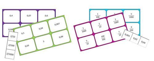Loto fractions décimales et nombres décimaux