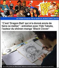 Pop up' culture : interview du mangaka  Yûki Tabata