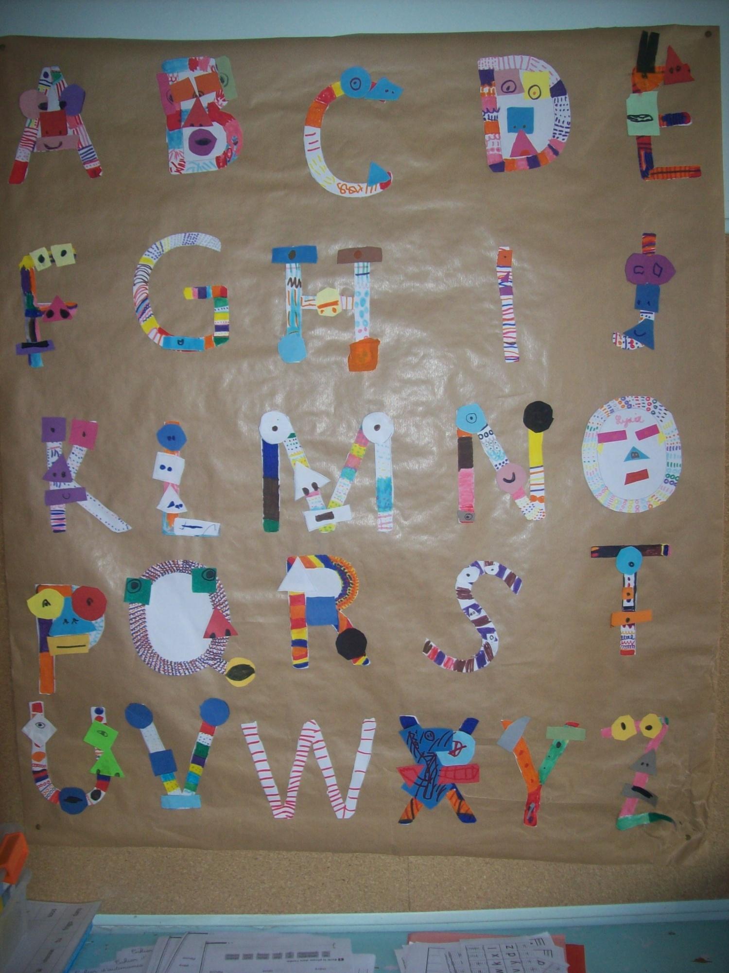 L 39 alphabet des monstres l 39 cole de julie for Dans en 2 lettres
