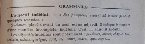 B / Les pronoms et adjectifs indéfinis