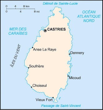 Sainte Lucie carte