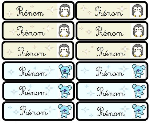 Mes étiquettes prénom