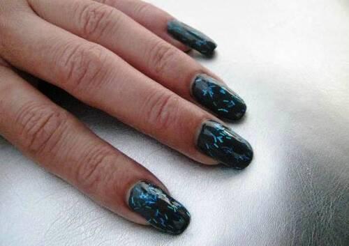 Swatch : Claire's - Dark blue -  n° 60470 - Glitter
