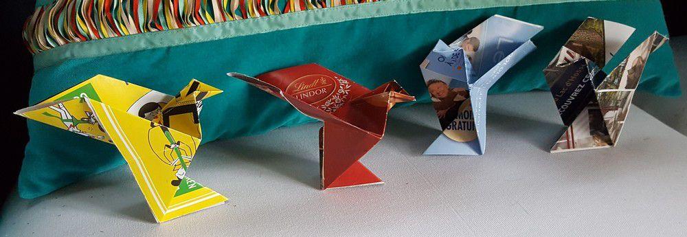 505 colombes en papier envoyées à Origami for life...