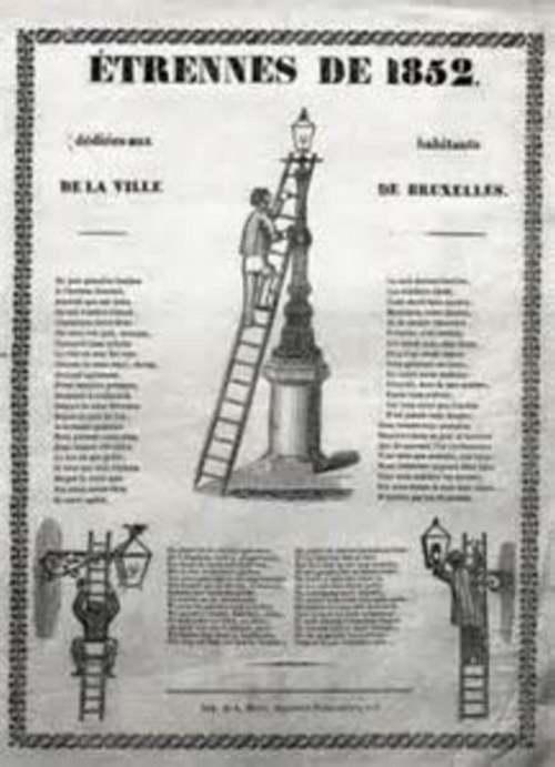 Le grand Almanach de la France : L'allumeur de réverbères.
