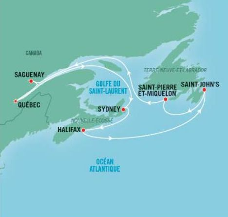 Croisière dans les Maritimes, Canada