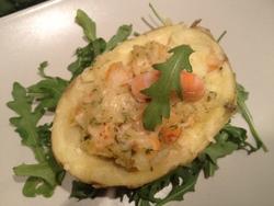 Pommes de terre farcies aux Crevettes