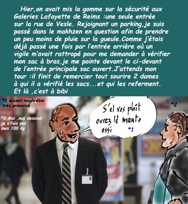 Etat d'Urgence/Reims/Galeries Lafayette