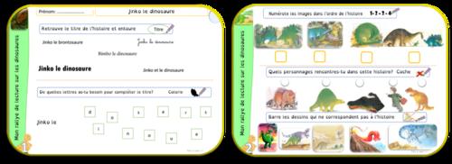 Rallye de lecture sur les dinosaures