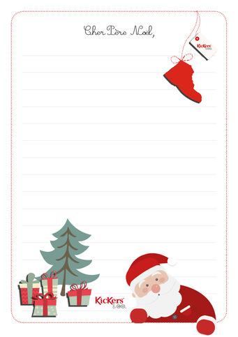 La lettre au père Noël...