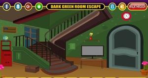 Jouer à Dark green room escape