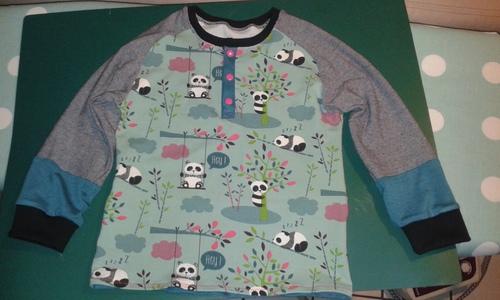 Flo voulait lui aussi un tee shirt pandas