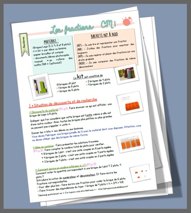 Fractions Cm1 Sequence Complete J Ai Toujours Voulu Etre Maitresse