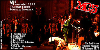 Le Choix des Lecteurs # 124 : MC5 - The Beat Forum - Gladsaxe Danemark - 23 Novembre 1972
