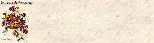 Papiers incrédimail Printemps