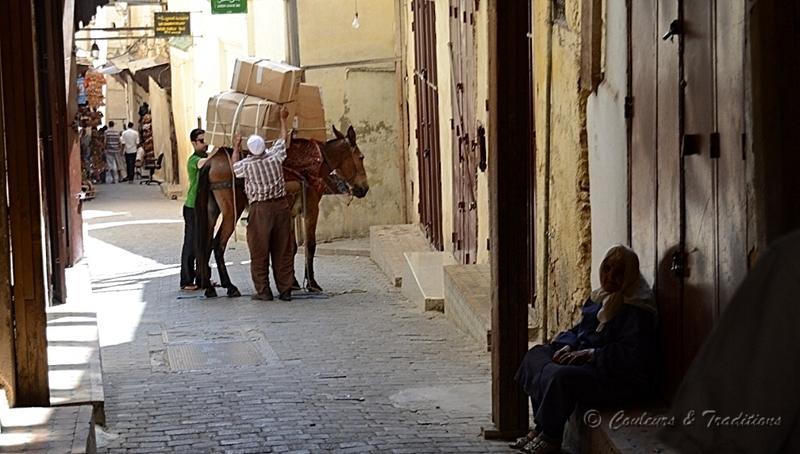 Le matin dans les ruelles de la Mèdina