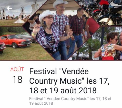 affiche festival (vendée country music les 17-18-19-  08-  2018