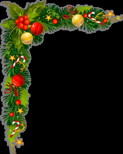 Tubes coins Noël en png
