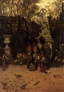 Beating The Retreat In The Tuileries Gardens - James Jacques Joseph Tissot - www.jamestissot.org