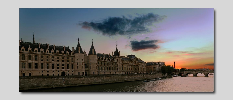 Paris Le soleil se couche à la conciergerie