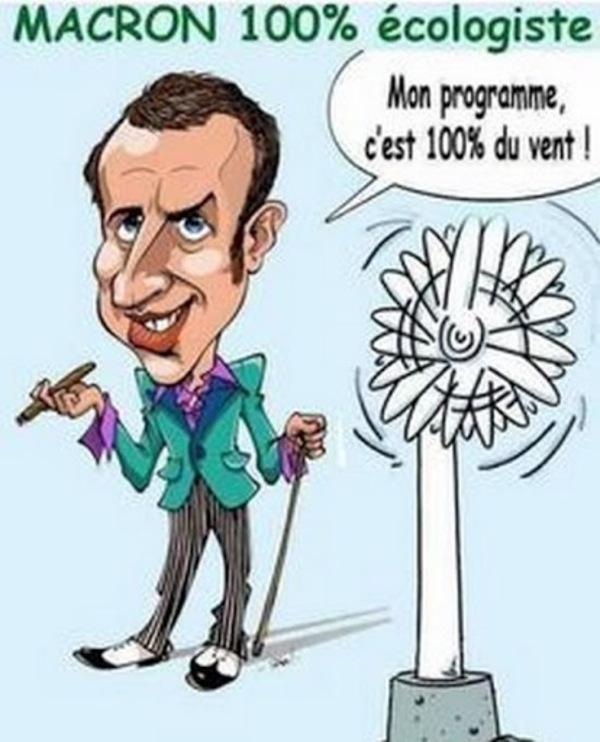 Macron : son programme c'est du vent !