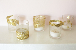 Pot de verre paillettes !