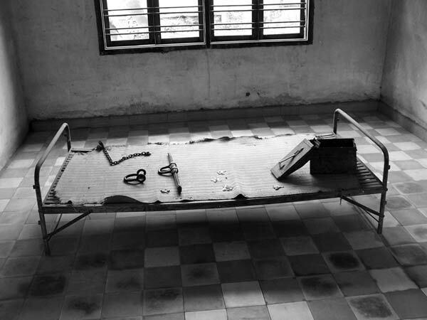 Salle de torture. Genocide des Khmers Rouges