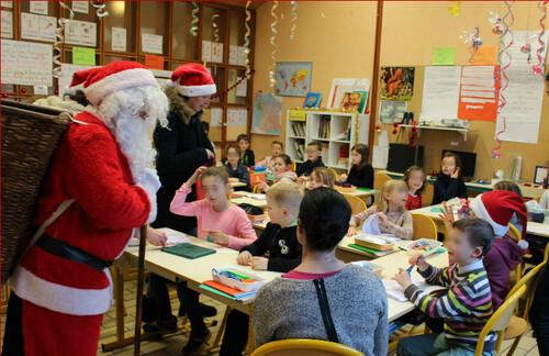 Le père Noël à l'école
