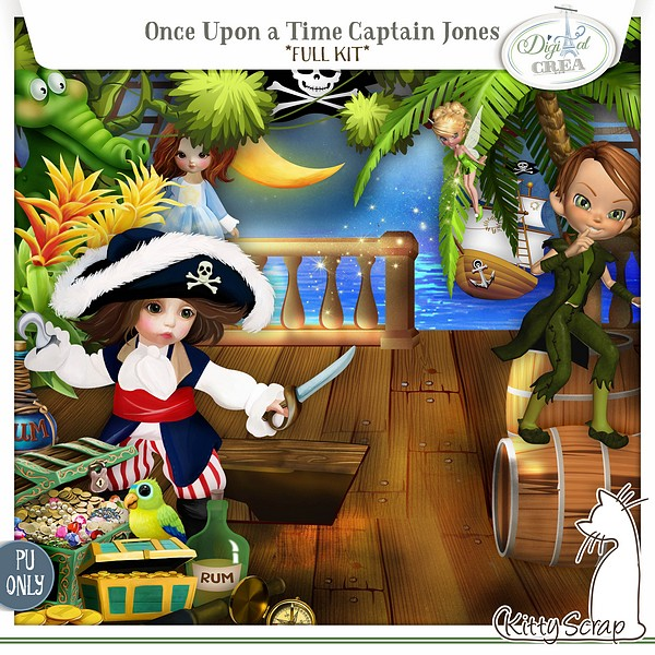 kit once upon a time Captain Jones de kittyscrap