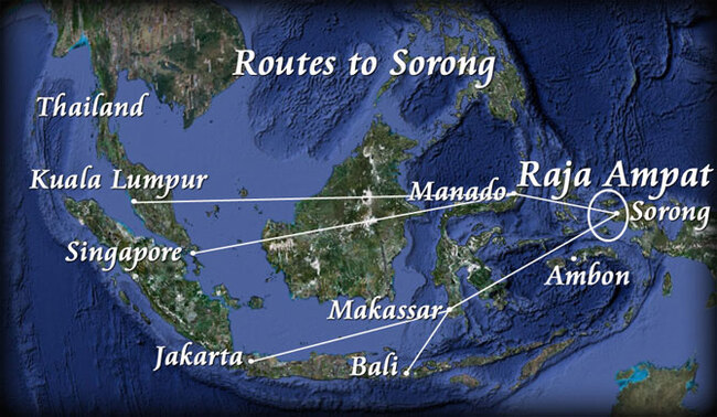 routes vers Sorong