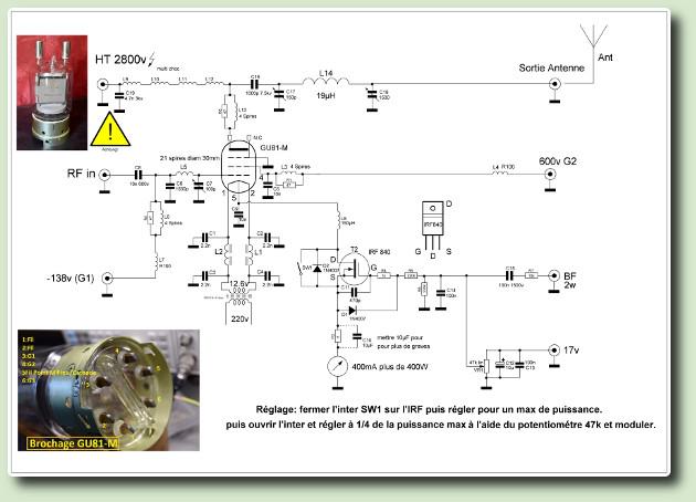 GU81 modulée par la cathode par Jean Paul F6EVT